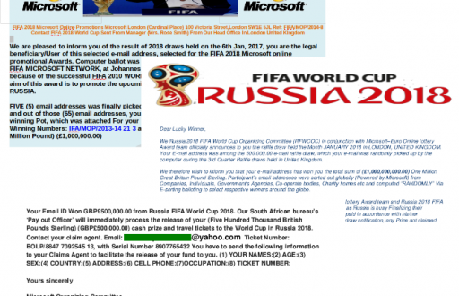 2018 Fraud World Cup
