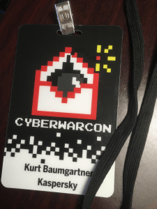 Cyberwarcon badge
